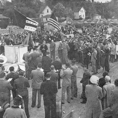Ground Breaking Ceremony for Memorial Building c1949